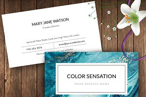 Abstract Ocean Name Card – ID55