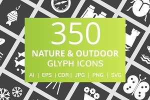 350 Nature & Outdoor Glyph Icons