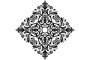 Floral Vector Pattern. Orient