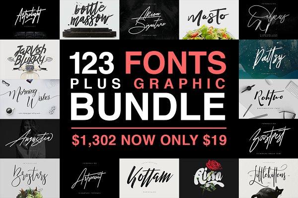 123 Fonts Plus Graphic Bundle