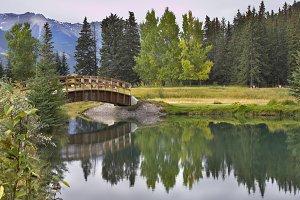 The picturesque bridge.
