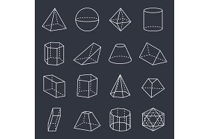 Geometric Shapes Collection Vector