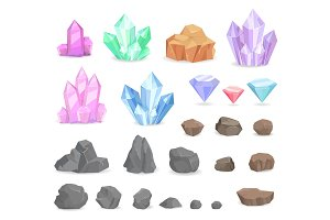 Color Crystals and Minerals Precious
