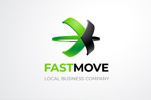 Fastmove Logo Two Crossed Arrows