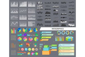 Infographics and Diagrams Set Vector