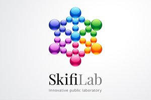 ScifiLab Abstract Colorful Logo