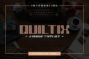 Quiltix Typeface
