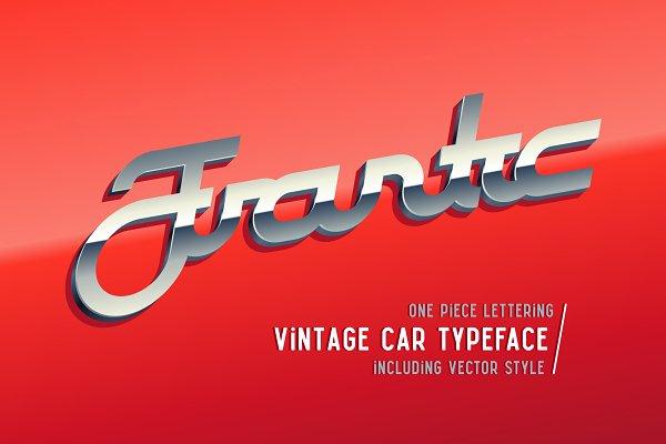 Display Fonts: Gleb Guralnyk - Frantic font & style