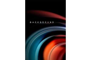Fluid liquid colors design, colorful