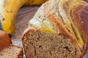 Banana loaf multigrain bread biscuit
