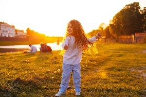Children's waltz on the sunset