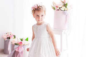 Bright stylish portrait of a small