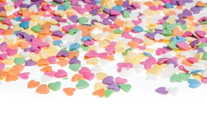 Sugar sprinkle dots hearts, decorati