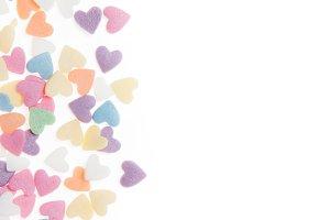 Sugar sprinkle dots hearts, decorati