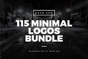 115 Minimal Vintage Logos Bundle