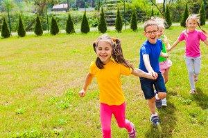 Preschoolers having fun together