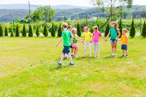 Active children playing outdoor