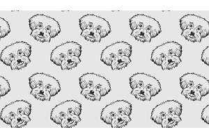 Dog, seamless pattern