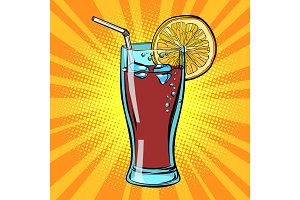 Cola drink with lemon