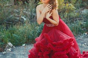 Fairy princess in ruins