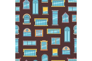Vector window flat icons background