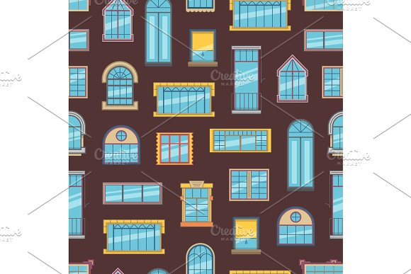 Vector window flat icons background in Graphics