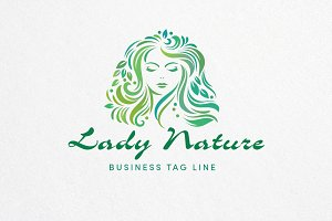 Lady Nature Logo Template
