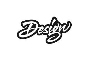 Design vector lettering