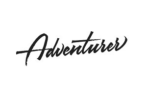 Adventurer vector lettering