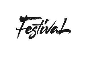 Festival vector lettering