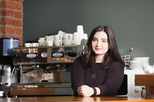 The owner of espresso bar
