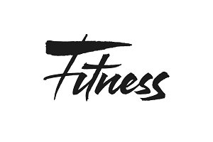 Fitness vector lettering