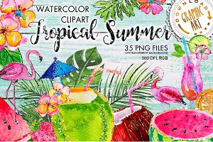 Tropical Summer Clip Art