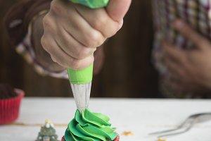 delicious Christmas cupcake