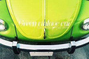 Colorful vintage car.