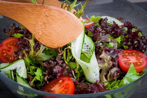 Fresh vegetable organic salad, healt