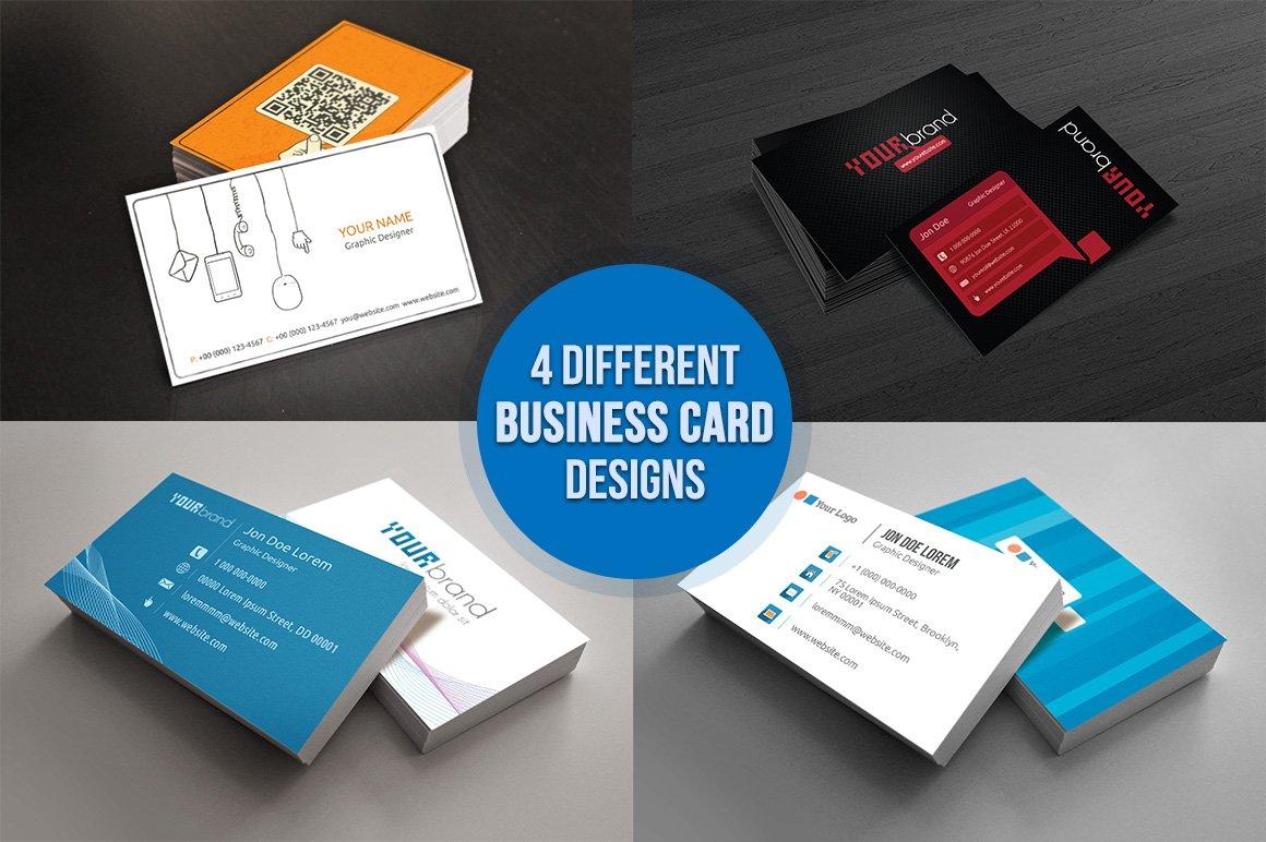 Different business card designs image collections free business 4 variant business card business card templates creative market magicingreecefo image collections magicingreecefo Image collections