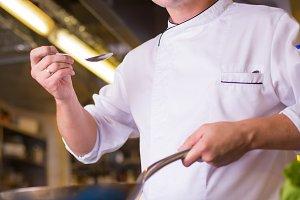 The Chef prepares food