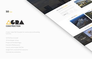 Agra | Construction PSD Template