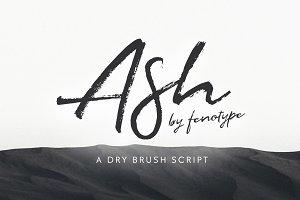 Ash brush font