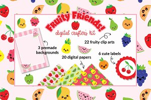Fruity Friends! Cute Kawaii Kit