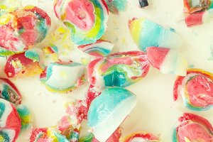 Smashed Lollipop, Colorful, Sweet
