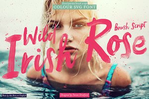 Wild Irish Rose brush script font