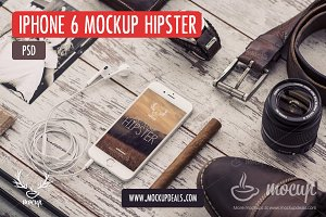 iPhone 6 PSD Mockup Hipster