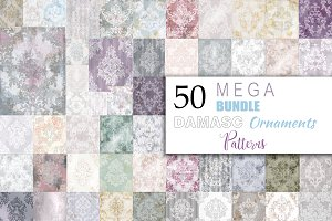 Vector 50 bundle damask patterns