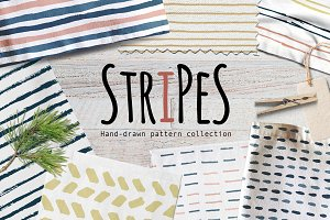 Stripes & Lines Hand-Drawn Pattern