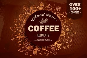 100+ Hand Drawn Coffee House element