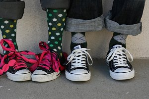 Converse Couple Mismatched Socks