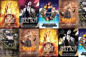 5in1 Party Flyer Bundle