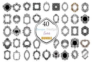 40 Bundle Baroque Vintage Frames